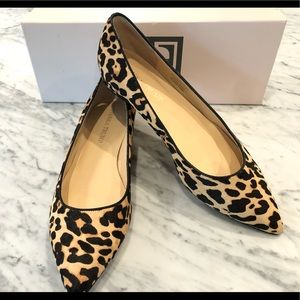 Ivanka Trump Chic Leopard Calf Hair Flats